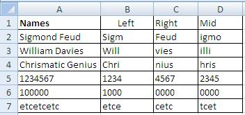 MS Excel left right mid function to extract text-4
