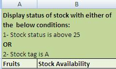 MS excel using IF OR
